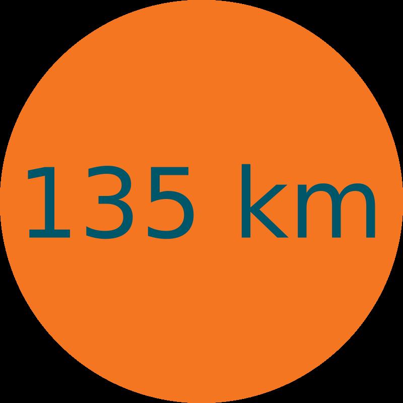 Parcours 135 km